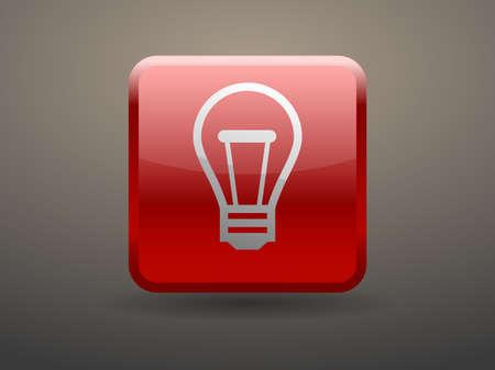 glossiness: 3d glossiness button icon of idea