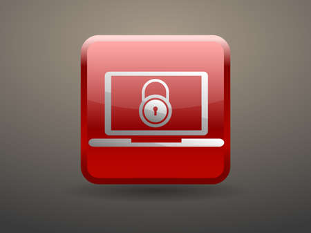 glossiness: 3d glossiness button Internet security icon