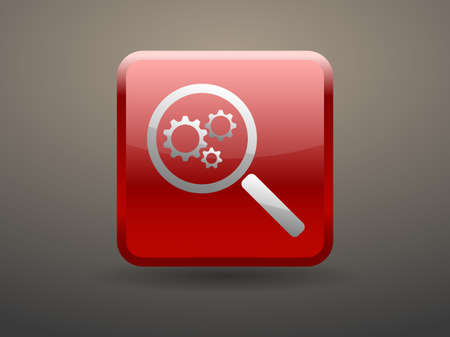 glossiness: 3d glossiness button SEO icon Illustration