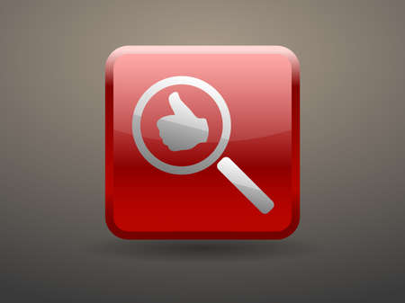 approvals: 3d glossiness button approvals search Illustration