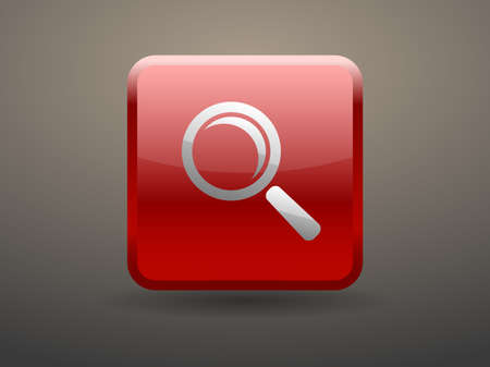glossiness: 3d glossiness button icon of loupe