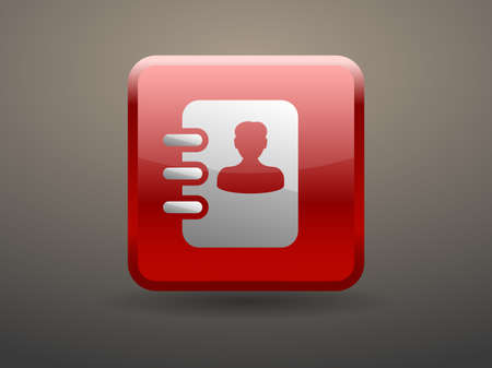 glossiness: 3d glossiness button icon of  contacts book