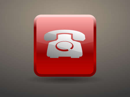 glossiness: 3d glossiness button icon of a phone Illustration