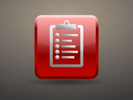glossiness: 3d glossiness button icon of clipboard