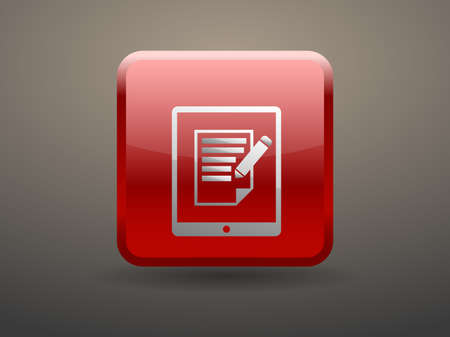 3d glossiness button touchpad notes icon