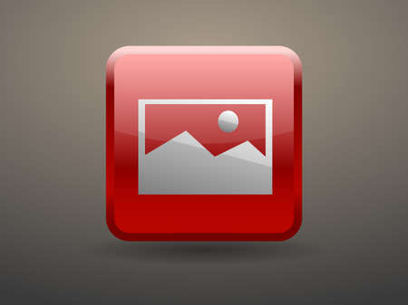 glossiness: 3d glossiness button Nature photo icon Illustration