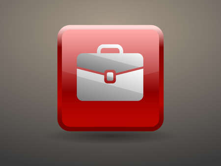 glossiness: 3d glossiness button icon of briefcase