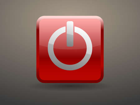 glossiness: 3d glossiness button icon of power