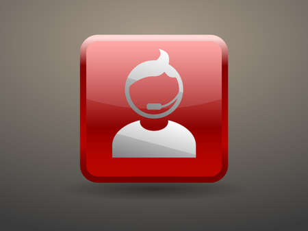 glossiness: 3d glossiness button icon of support