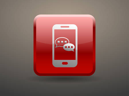 glossiness: 3d glossiness button mobile chatting icon