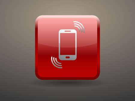 glossiness: 3d glossiness button calling icon