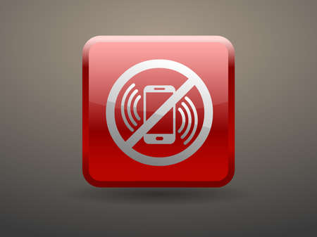 glossiness: 3d glossiness button turn off phone icon
