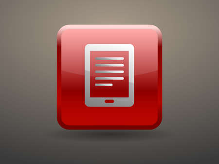 glossiness: 3d glossiness button icon of touchpad Illustration