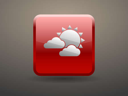 glossiness: 3d glossiness button weather icon Illustration