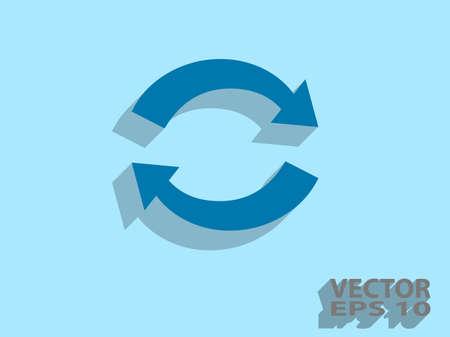 c�clico: Icono plana de c�clico
