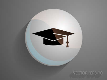 master degree: Flat  icon of graduate