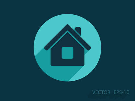 pc icon: Flat icon of home Illustration