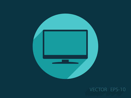 hdtv: Flat icon of monitor