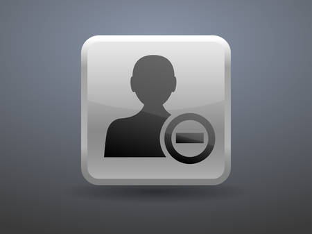 glossiness: 3d glossiness button Remove contact icon Illustration