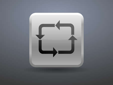 glossiness: 3d glossiness button icon of cyclic