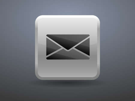 glossiness: 3d glossiness button icon of letter Illustration