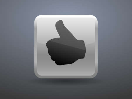 glossiness: 3d glossiness button icon of ok
