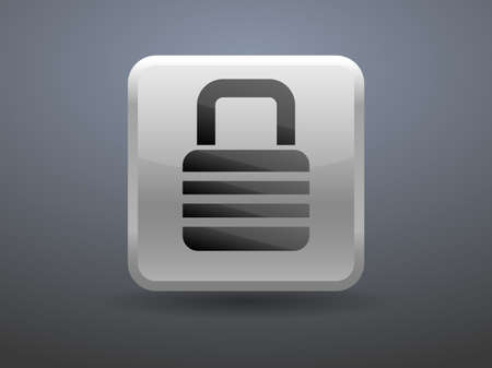 glossiness: 3d glossiness button icon of lock