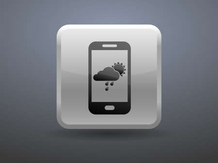 glossiness: 3d glossiness button Forecast icon Illustration