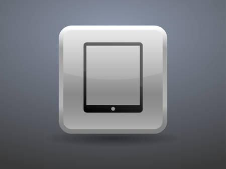 touchpad: 3d glossiness button icon of touchpad Illustration