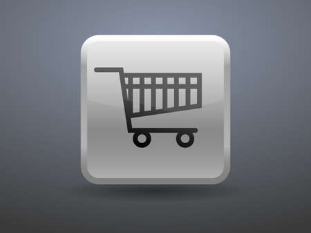 glossiness: 3d glossiness button icon of shopping chart Illustration
