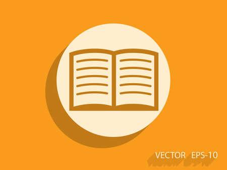 open book: Icono plano de libro