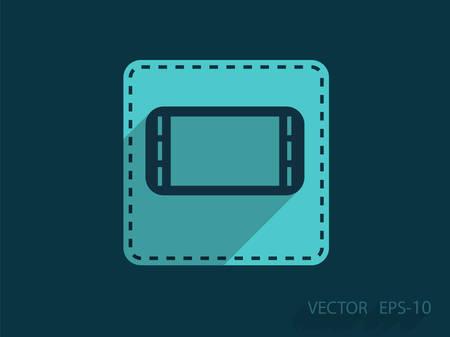 gamepad: Flat icon of gamepad