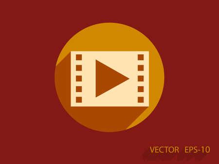 Flat icoon van video Stock Illustratie