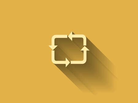 c�clico: larga sombra icono plana de c�clico Vectores