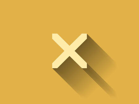 disallowed: long shadow Flat  icon of prohibit Illustration