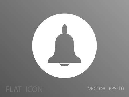 door bell: Flat icon of bell