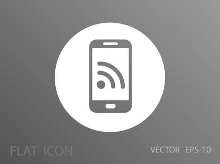 syndication: Icono m�vil RSS Vectores