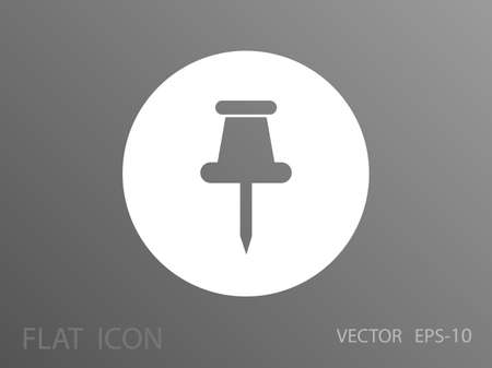 tacks: Pushpin icon, vector illustration Illustration