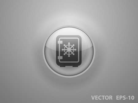 secret codes: Flat icon of safe Illustration