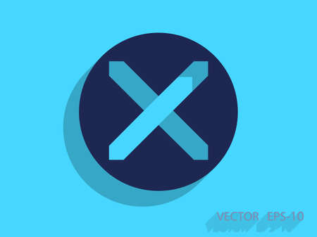 restrictive: Flat  icon of prohibit
