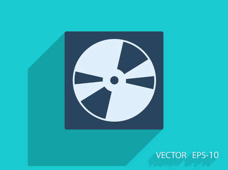 recordable media: Flat  icon of DVD disc Illustration