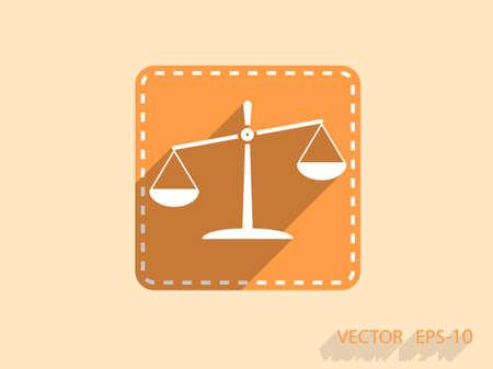 Vlakke icoon van Justitie