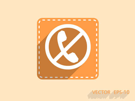 no cell: turn off phone icon