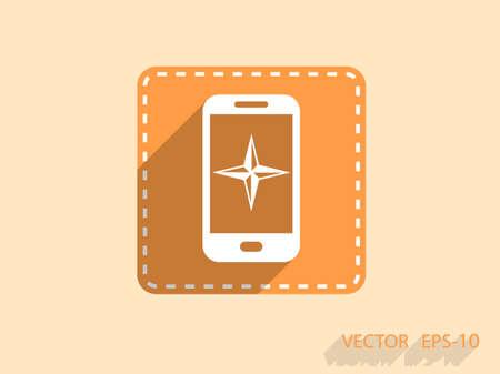 Flat icon of smartphone Illustration