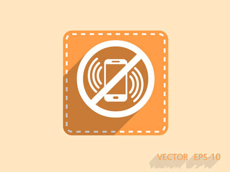 no cell phone sign: turn off phone icon