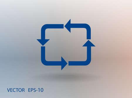 cyclic: Flat icon of cyclic Illustration