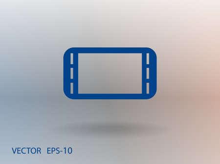 the gamepad: Flat icon of gamepad