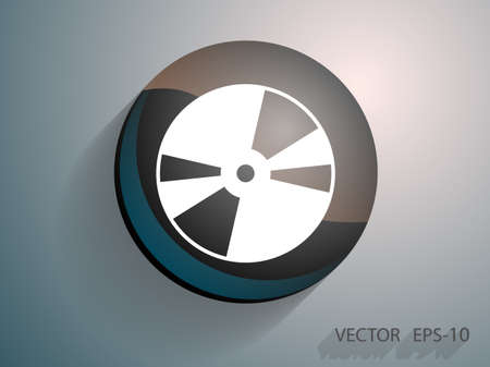 recordable: Flat  icon of DVD disc Illustration