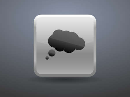 glossiness: 3d glossiness button chatting icon