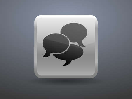 glossiness: 3d glossiness button icon of a communication